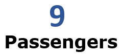 9 Passengers